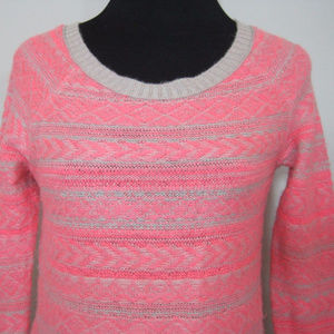 AMERICAN EAGLE Sweater S P Womens Pink Crewneck